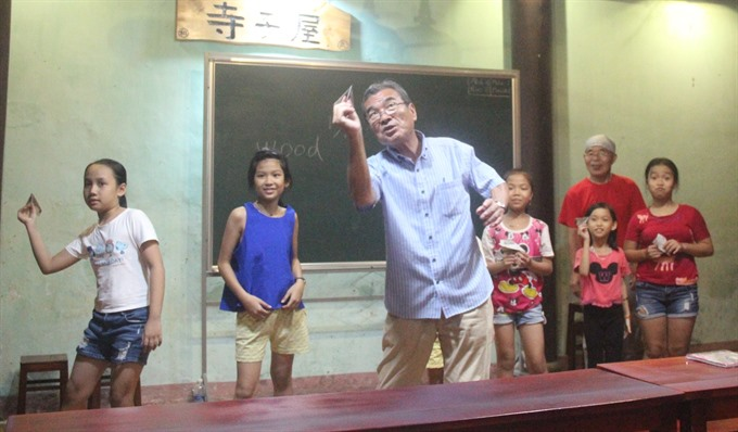 Childhood Japanese lessons in the heart of Hội An city